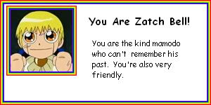 What Zatch Bell Mamodo Are You?