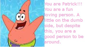 What SpongeBob Character Are You?
