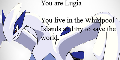 What Legendary Pokemon Are You?