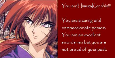 What Rurouni Kenshin Character Are You?
