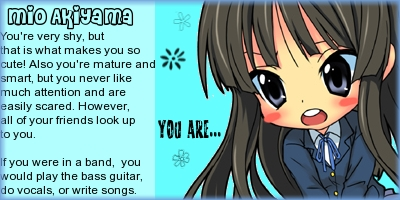 What K-ON! Band Character Are You?
