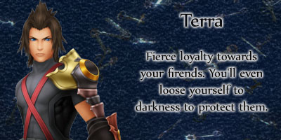 What Kingdom Hearts Birth By Sleep Character Are You?