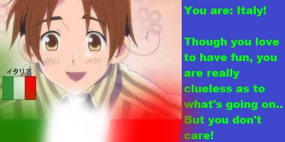 Which Hetalia Character Are You?