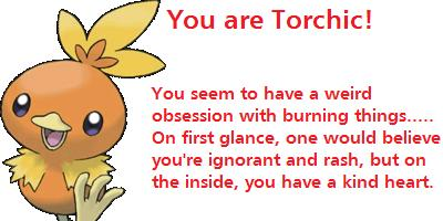 Which Pokemon Fire Starter Are You?