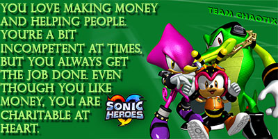 What Sonic Heroes Team Are You?
