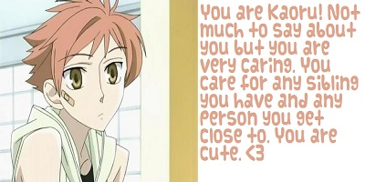 What Ouran High School Host Club Host Are You?