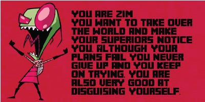 Which Invader Zim Character Are You?