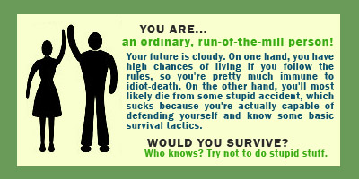 Would YOU Survive A Zombie Apocalypse?