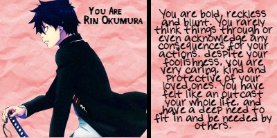 Which Blue Exorcist Character Are You?