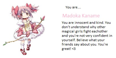 What Madoka Magica Character Are You?