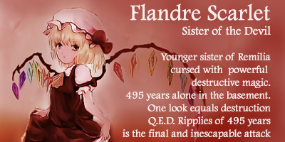Which Touhou Boss (Embodiment Of Scarlet Devil) Are You?