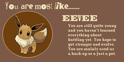 What Eevee Evolution Are You?