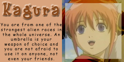 What Gintama Character Are You?