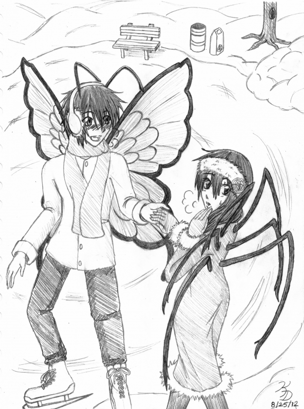 Commission For Toyo-Mr. Butterfly & Ms. Spider