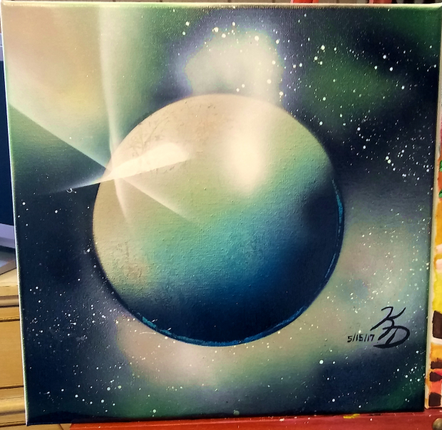 Planet in Space - Spray Paint