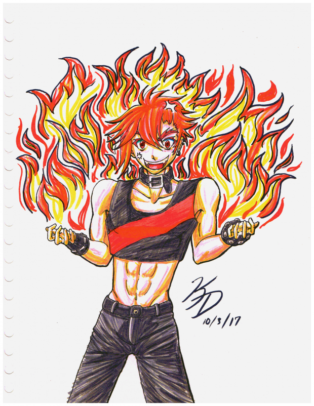 OC Inktober Day 3 - Hot-Headed OC