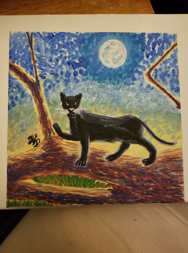 Acrylic Panther for Mother's Day