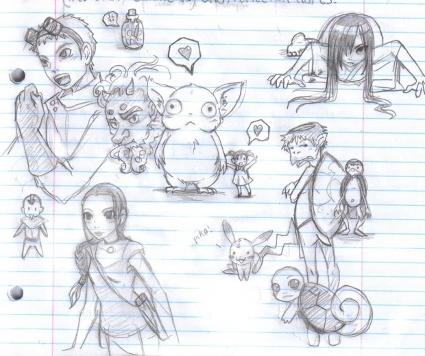English class sketch dump
