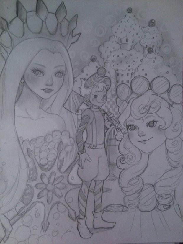 Candy land sketch