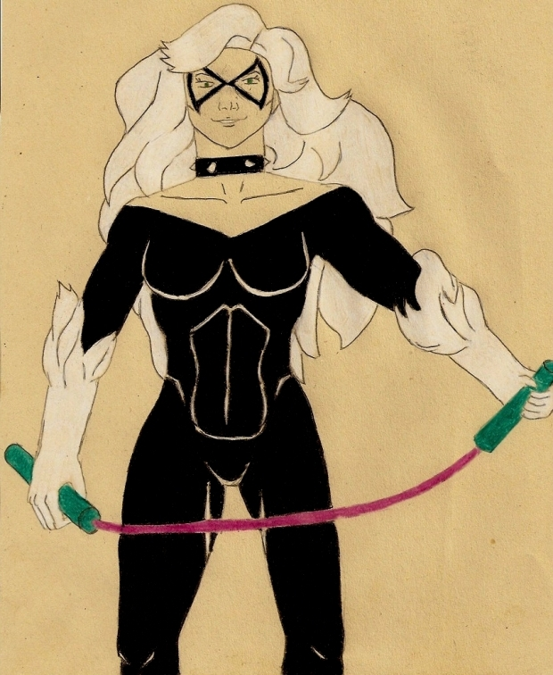 Black Cat with Nunchucks