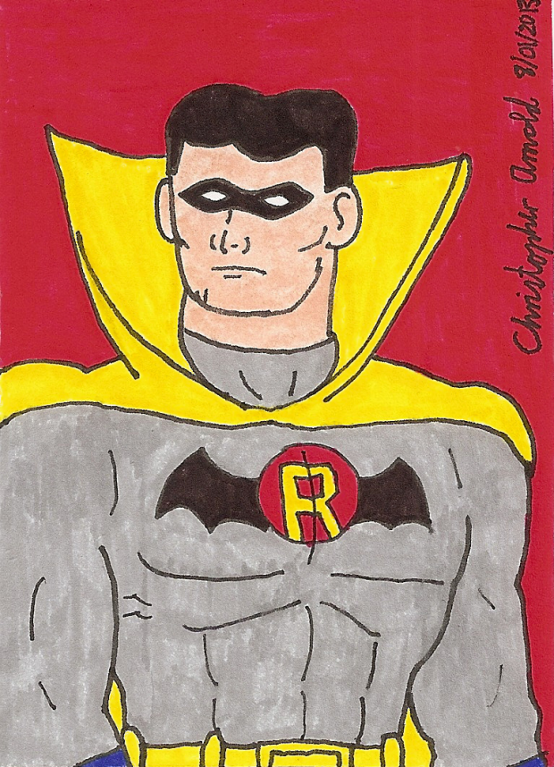 Earth-Two Robin 1967 Sketch Card