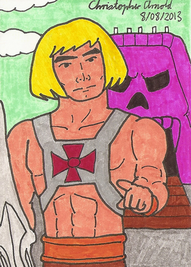 He-Man 1983 Sketch Card