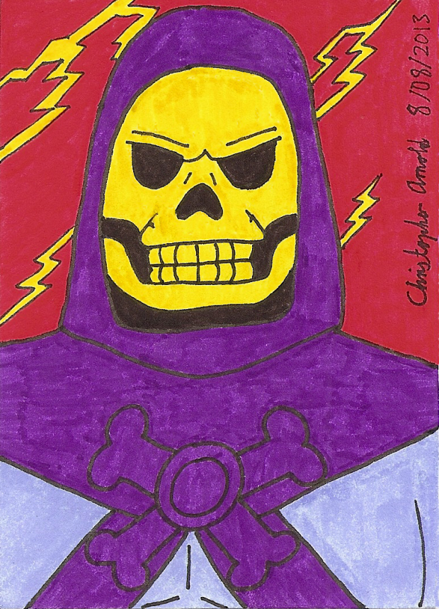 Skeletor 1983 Sketch Card