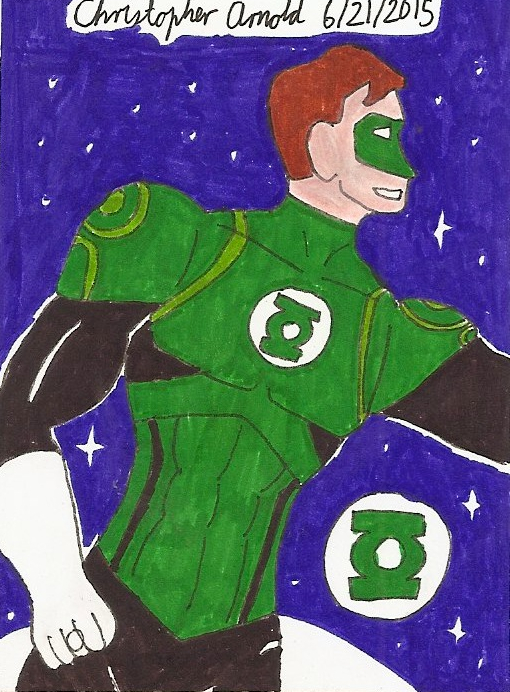 JLW Green Lantern Sketch Card