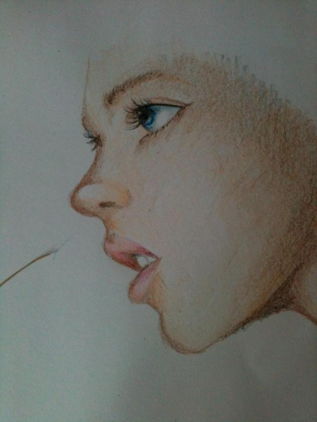 Crayon Drawing of a Girl