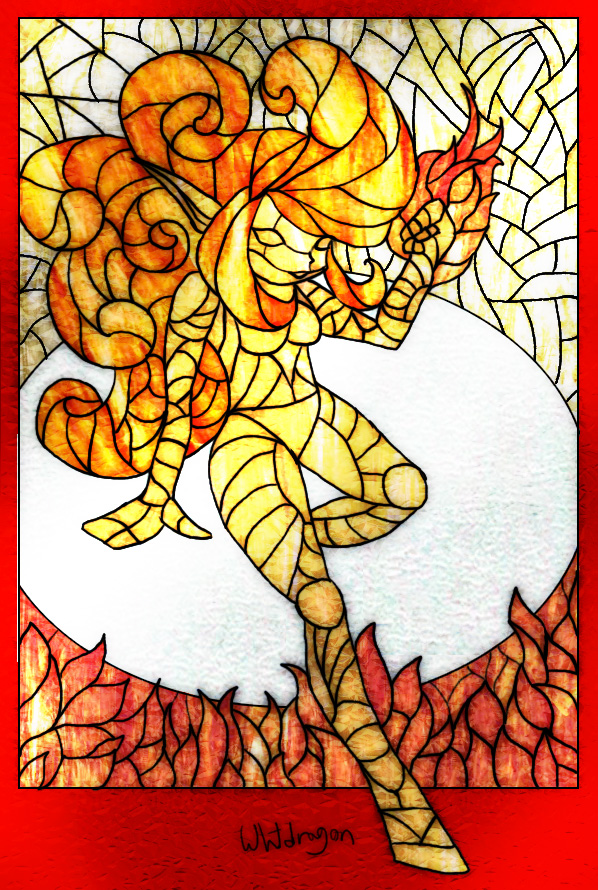 Stained Glass Fire Elemental