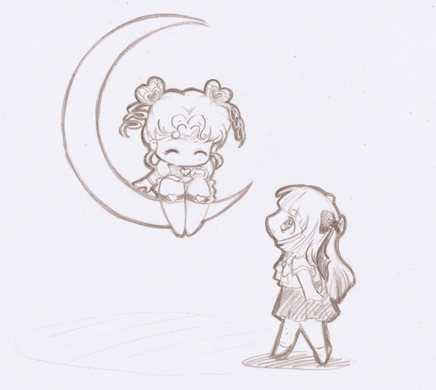 sketch: chibi chibi and mariko