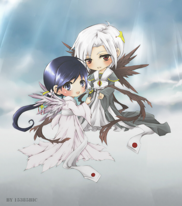 chibi mateus and amane coloured