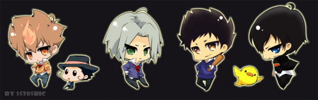 short and stumpy chibi hitman reborn set 1