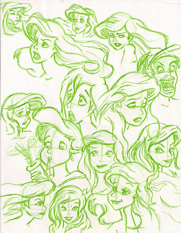 Ariel Sketch in Green