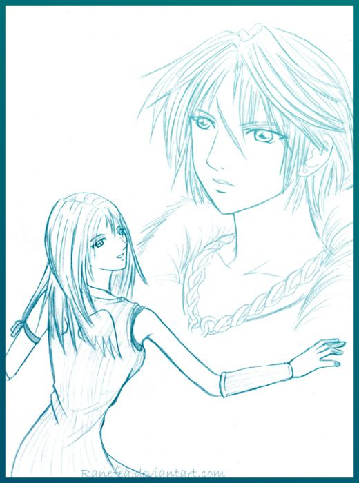 Squall And Rinoa - Pencil