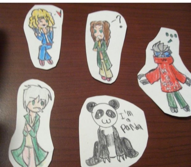 Final Ornaments Batch - Ginko, River Song, the Eighth Doctor, Garrus Vakarian, and...a Panda