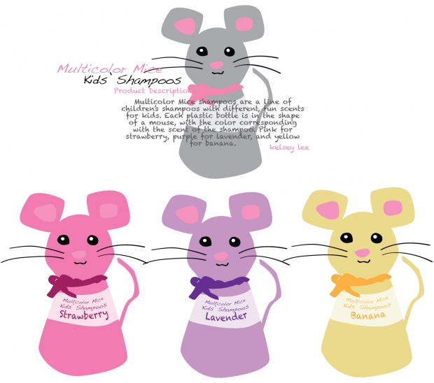 mice shampoos product design. :3