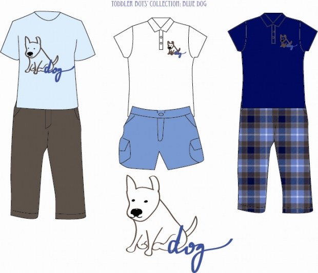 blue dog collection (clothes).