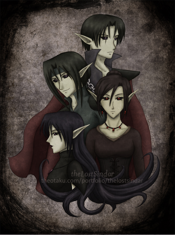 Dark Family Portrait