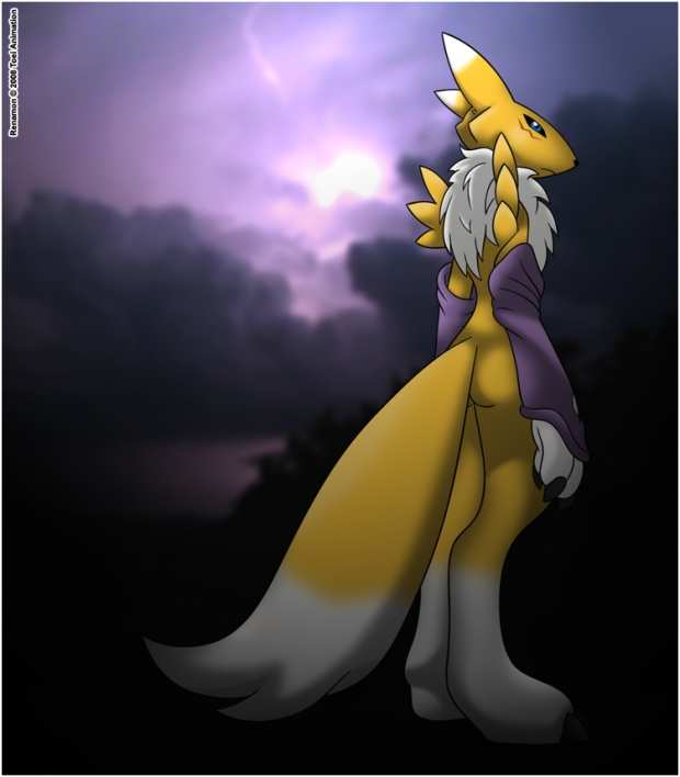 Renamon in the Dark Clouds
