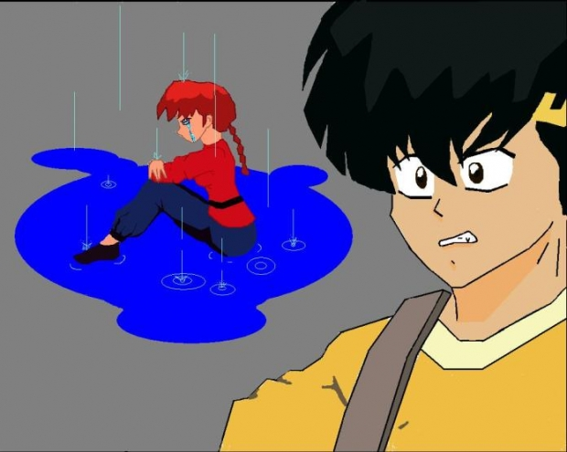 Ranma In The Rain