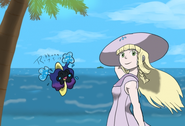 Lillie in the Beach Breeze