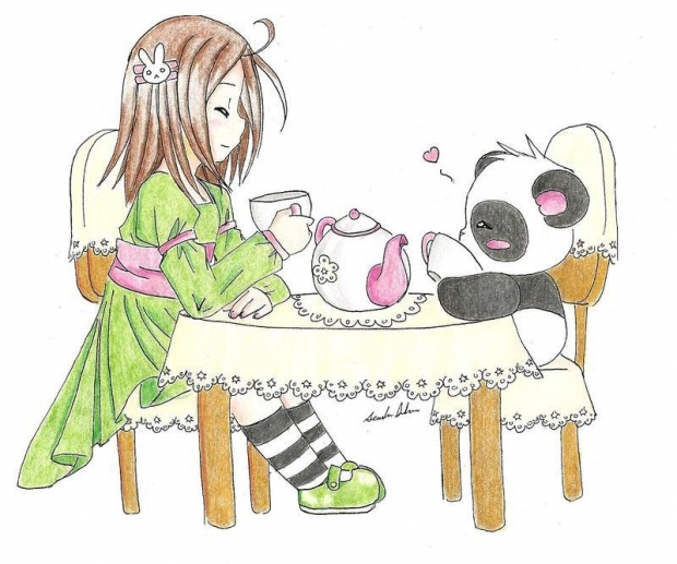 tea time for panda