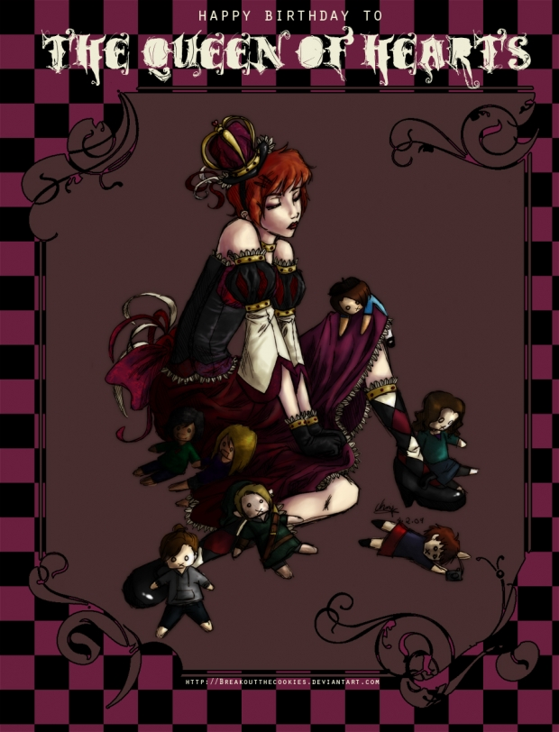 Queen of Hearts Coloured