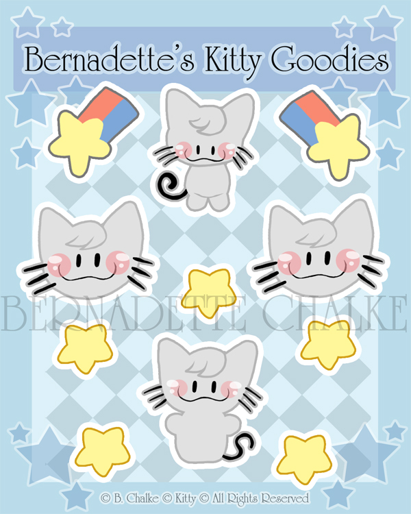 Kitty Sticker Set