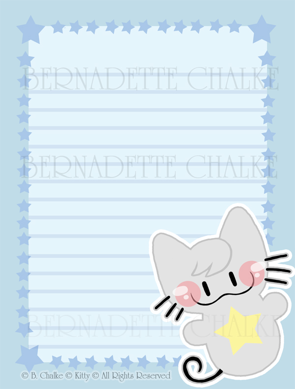 Kitty Stationary