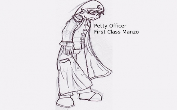 One Piece OC- Petty Officer First Class Manzo