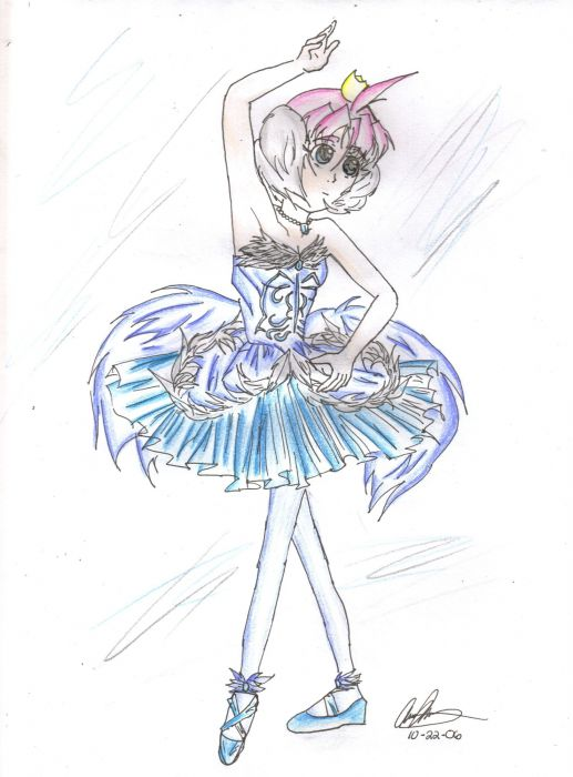 Princess Tutu In Blue Outfit