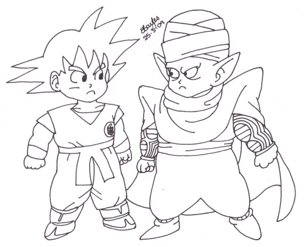 Goku And Piccolo Chibis