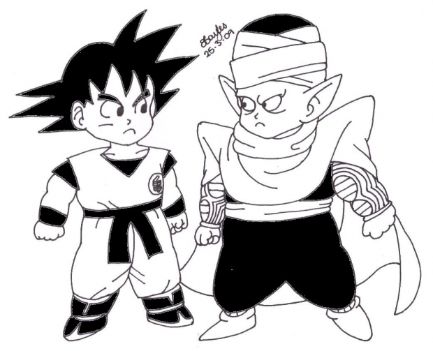 Goku And Piccolo Chibis (Edited)